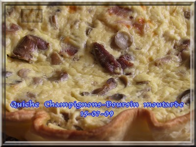 Quiche champignons-Bours*n moutarde + photos 090715094244683834075559