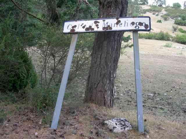 Collado de Manchego - ES-CU- 1620 mètres (Pancarte)