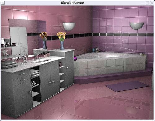 La salle de bains familiale pas grande id es couleur for Carrelage rose salle de bain