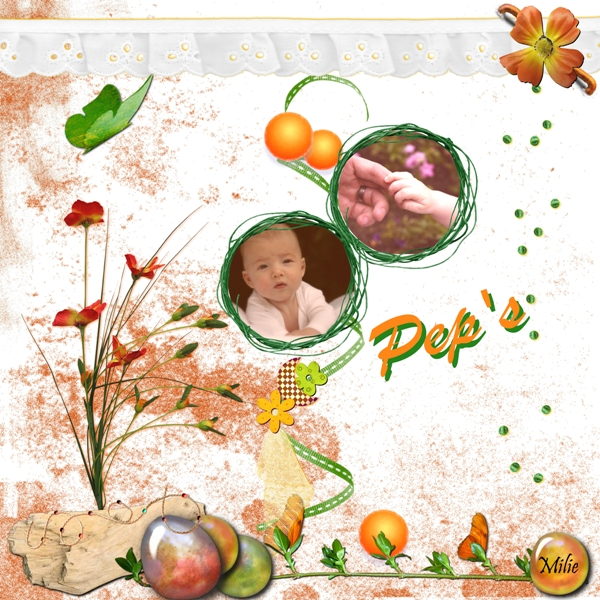 Kit Orange par Happy-Scrap w