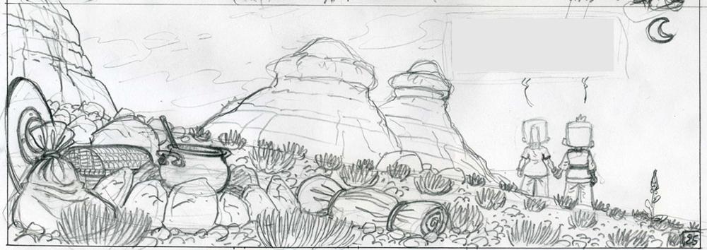 Titus et Maya dans le désert
