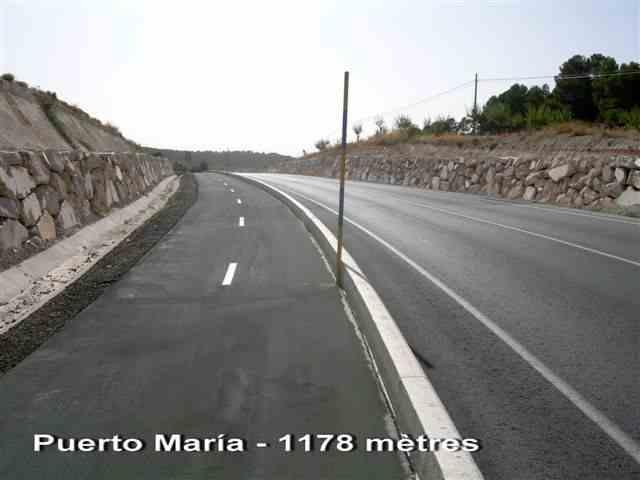 Puerto Maria sur piste cyclable à 1178 mètres d'altitude