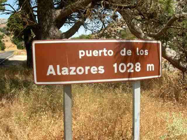 Puerto de los Alazores - ES-GR-1040 (Panneau)