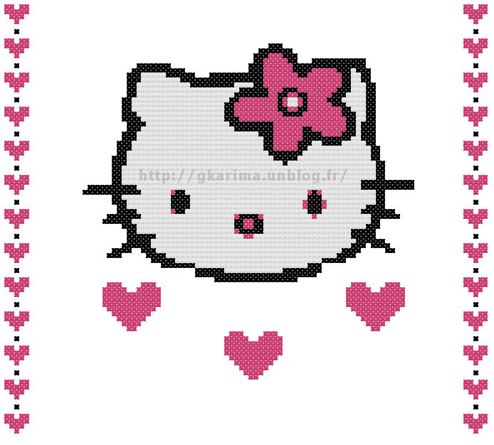 Point de croix :Hello Kitty : Grille dans Hello Kitty 090817035749178864267595