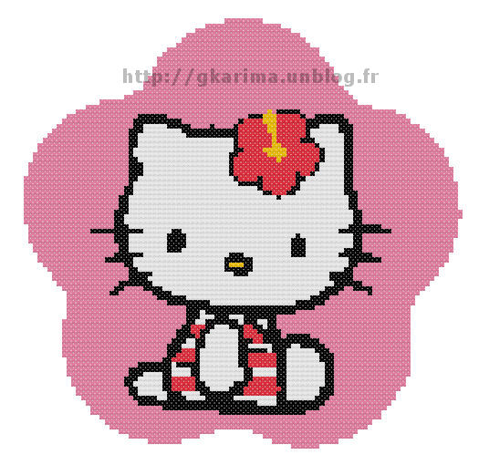 Point de croix :Hello Kitty 1: Grille dans Hello Kitty 090817052454178864268185