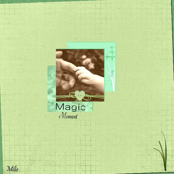 kit papiers Verts de Scrapteamphotofiltre