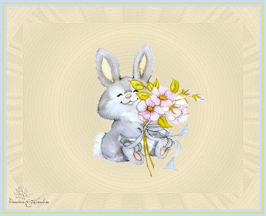Lapin qui offre des fleurs mes cr ations psp et animations for Offre des fleurs