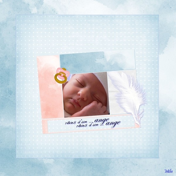 Kit Bb Pistache par Angie + WA4 Anges par Mini-Renne