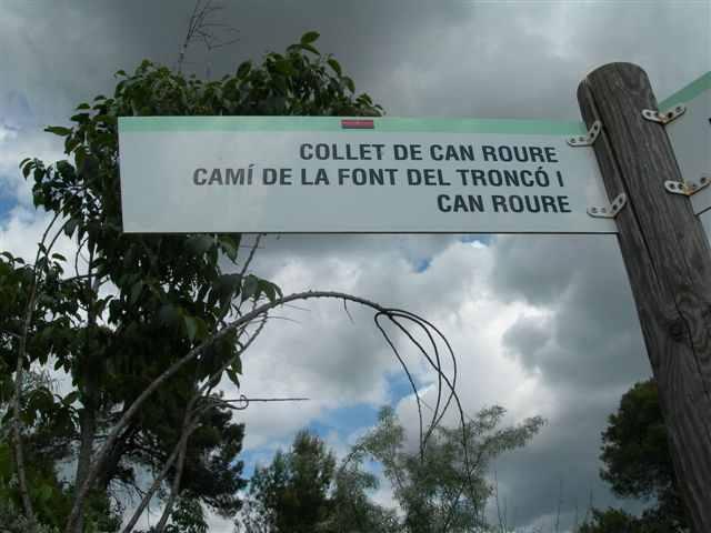 Collet de Can Roure - ES-B-0533 (Panneau directionnel)