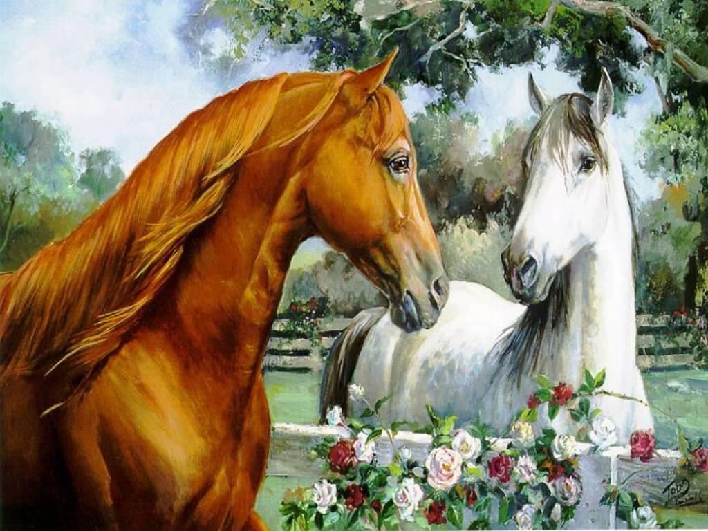 dipinto di cavalli