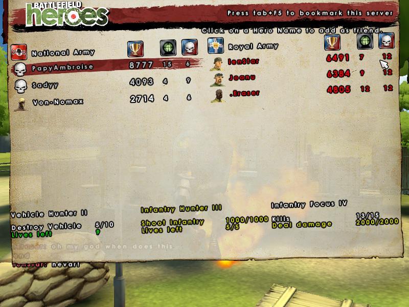 Best BF Heroes score 090921074741716114497565