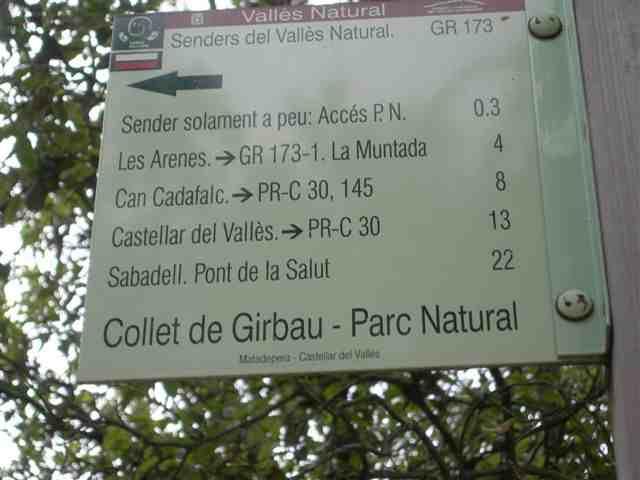 Collet de Girbau - ES-B- 641 mètres (Pancarte)