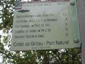 Collet de Girbau - ES-B- 641 mètres (Panneau)