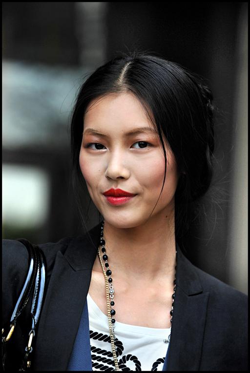 Asian lady cartoon