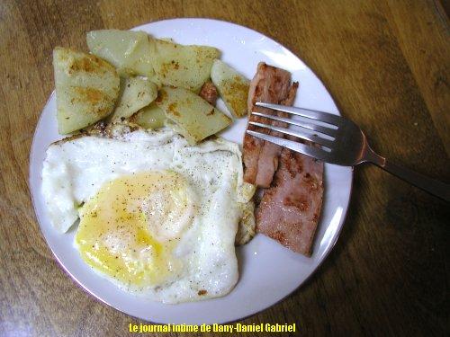 oeuf jambon petites patates