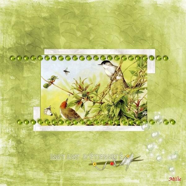 Template 18-Ashes.Kits SoftnessGreen pour les 2 papiers_vert et blanc puis Anis de Cajoline pour les oiseaux  les perles et les bulles + WA Souvenirs d'été de Delph