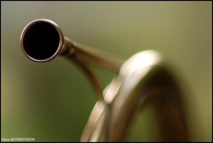 Trompe de chasse (photo par Pierre BOURGUIGNON, veneur de Sainte Marie-Madeleine)