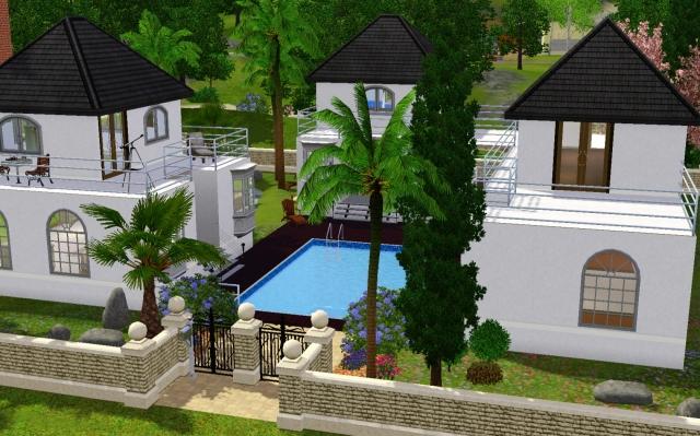 Ma page pamgame villas et mas les sims for Decoration maison tropicale