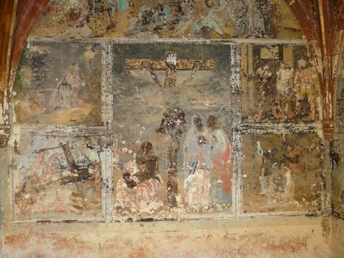 Peinture murale à la colle, consolidation couche picturale, décrassage . (sous-couche) 091113061852894654852535