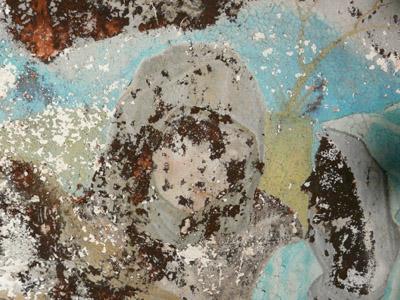 Peinture murale à la colle, consolidation couche picturale, décrassage . (sous-couche) 091113061857894654852537