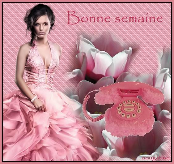 Femme en rose-Bonne semaine. | REVERIES EN MORCEAUX