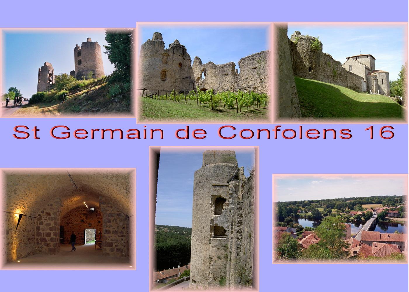 carte charente - 16 lim St Germain de Confolens