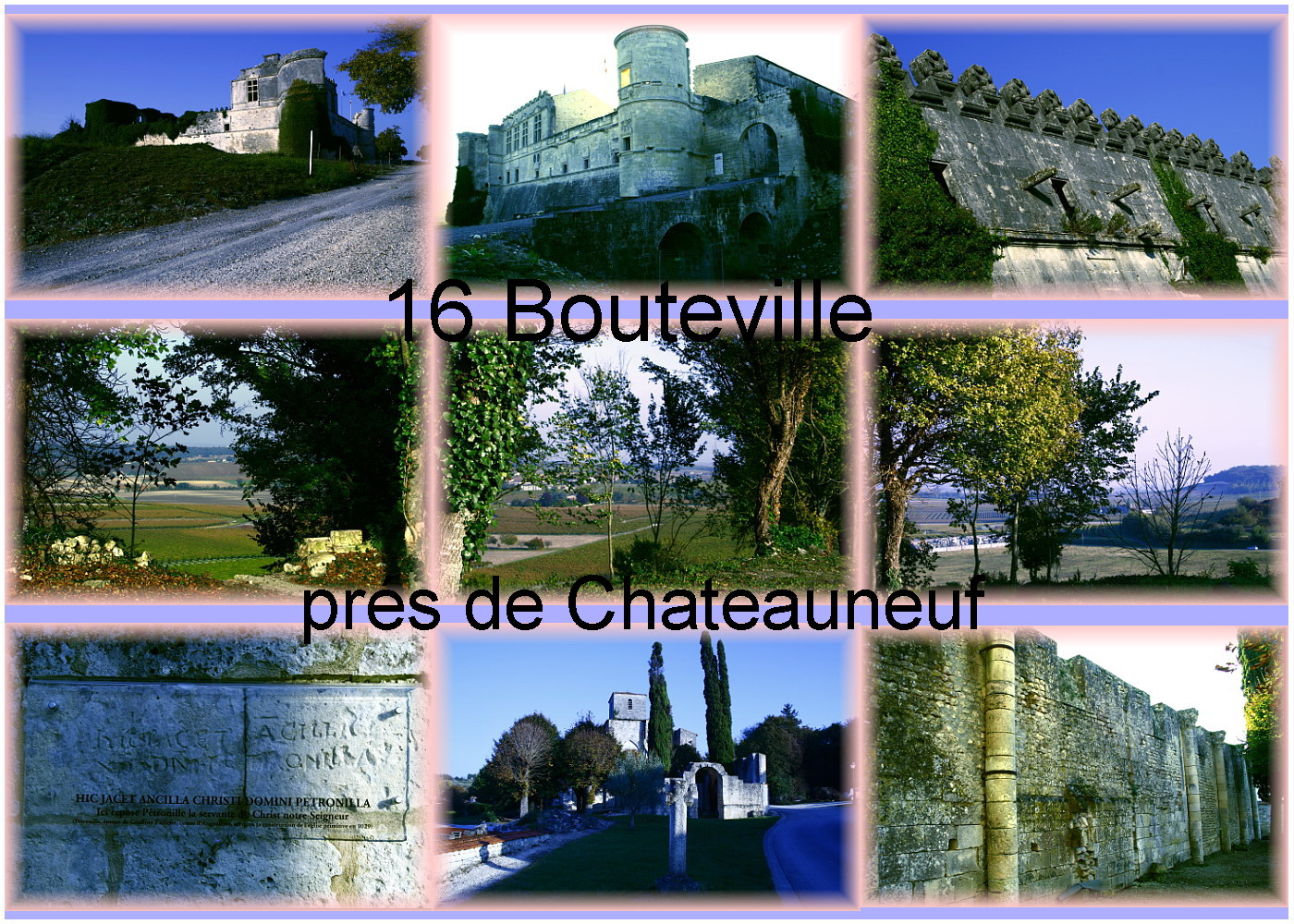 carte charente - 16 cog  Bouteville