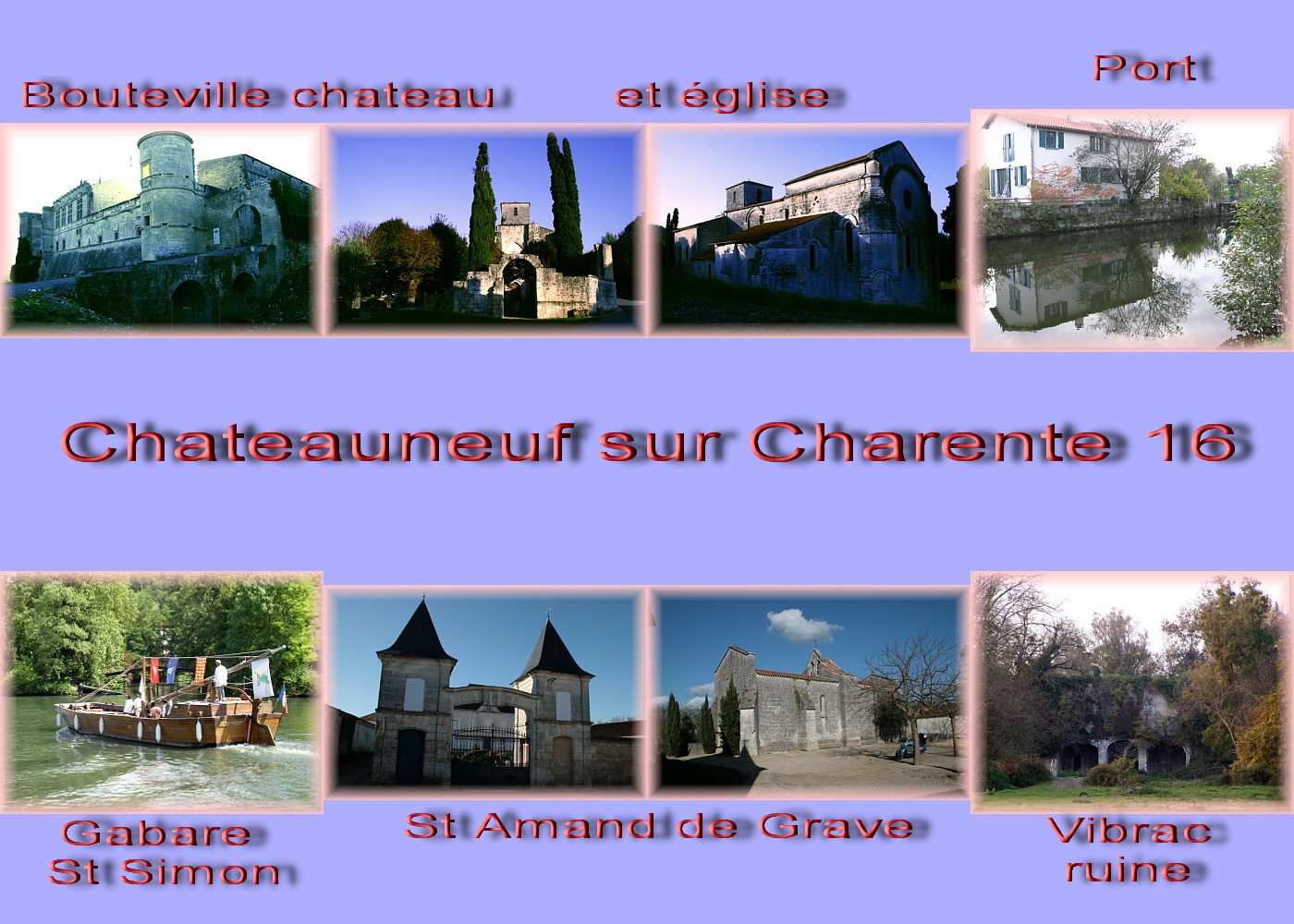 carte charente - 16 cog Chateauneuf