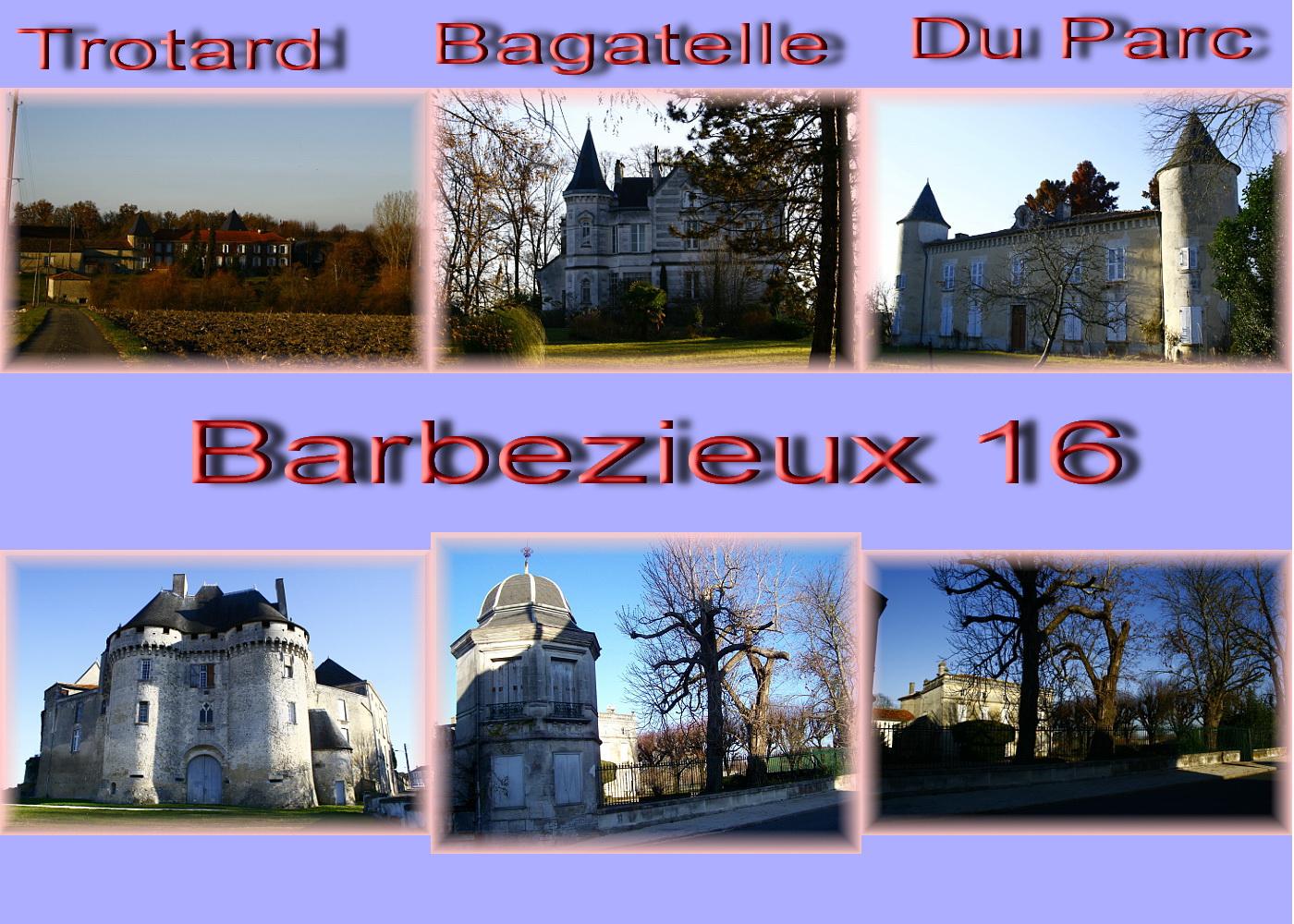 carte charente - 16 sud Barbezieux