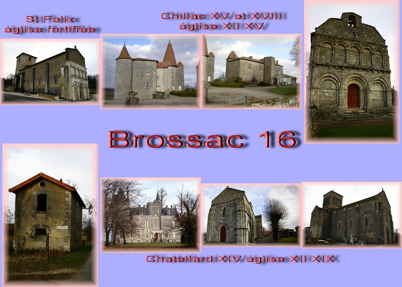 carte charente - 16 sud Brossac