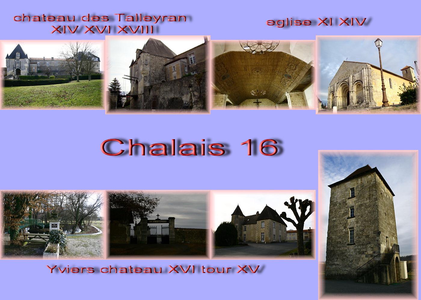 carte charente - 16 sud Chalais