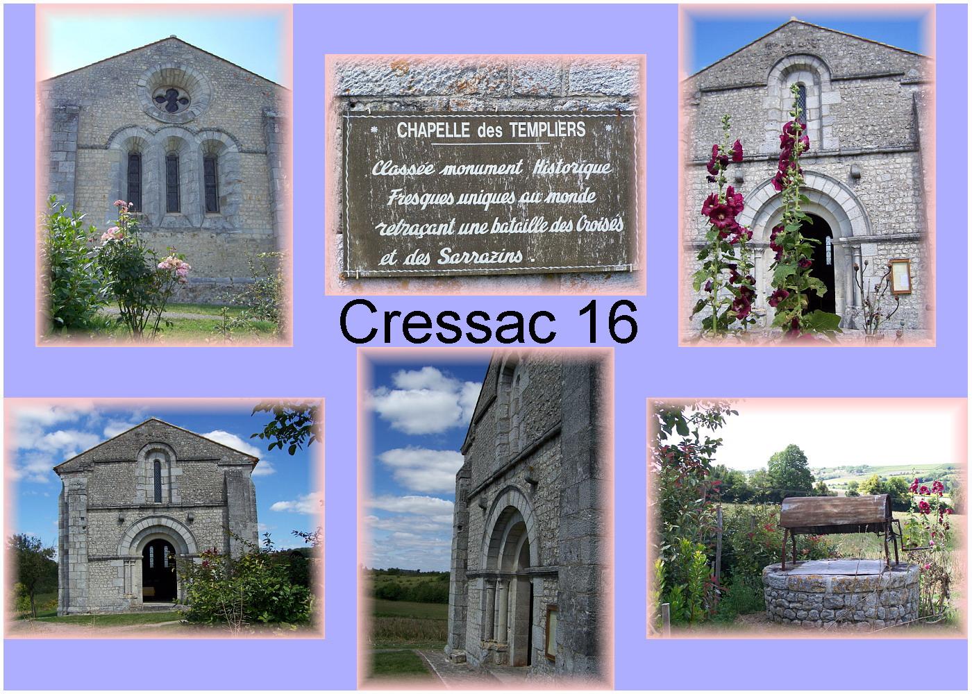 carte charente - 16 sud cressac