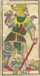 "La carte du tarot ""Le Mat"" 100109064133385005216819"