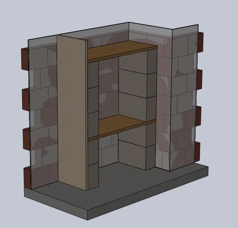 Fcgbboy2 mis en place du 54l association - Placard beton cellulaire ...