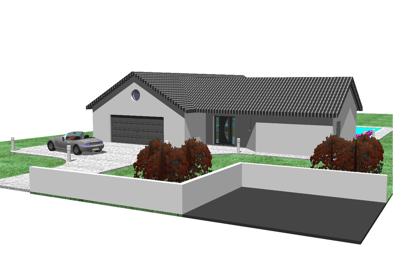 Recherche plan de maison en v env 100m2 33 messages - Prix d une maison plein pied 100m2 ...