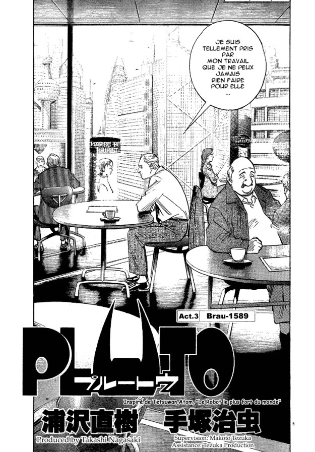 Pluto d'Osamu Tezuka et Naoki Urasawa 100220104516735215480159